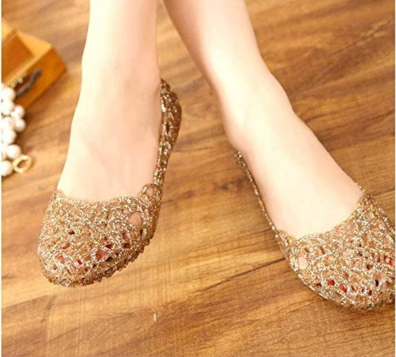 37d1da0b95bb Promising review   quot Jelly sandals (those clear plastic