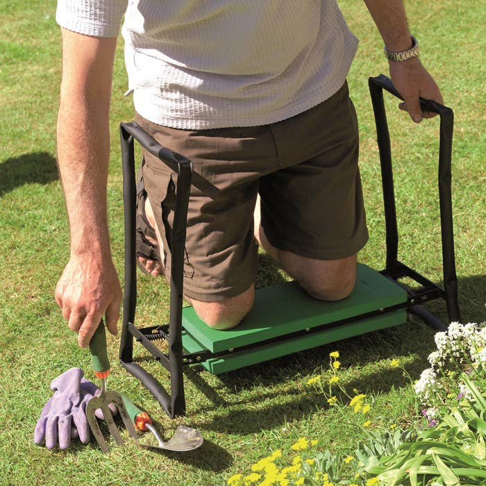"""Promising review: """"This is a terrific item. Both my husband and I have used it. It's quite helpful for getting up from the ground after pulling weeds or whatever since we are no longer 19 years of age. My husband used it as a stool to repair a crack in a wall. It held him. I am the weed puller so I use it regularly. No more dirty knees or dirty pant seats."""" —azCarolinePrice: $40.41"""