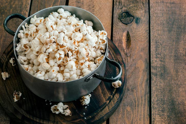 Store-bought popcorn options can be excessively high in sodium, with each bag containing more than your suggested allowance of 2,300 milligrams per day. Healthy swap: Pop your own popcorn by placing a quarter cup of popcorn kernels in a paper bag, and microwaving. Add a little butter, salt, pepper, maybe coconut oil...whatever!