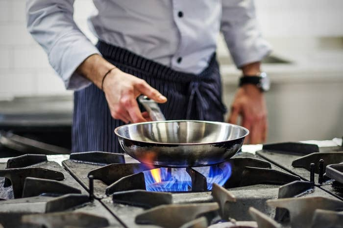 """""""Wait until your pan and oil is adequately heated before adding food to it, unless you want food that sticks to the pan or cooks unevenly."""" —zoeh43e265480"""