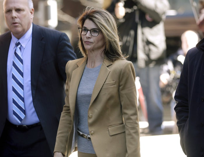 Lori Loughlin after appearing in federal court to answer charges stemming from the college admissions scandal.