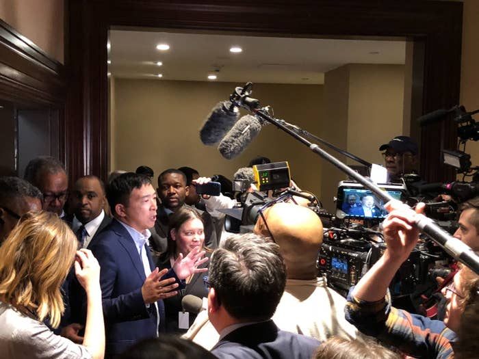 Andrew Yang Is Finding New Ways To Get Attention Offline
