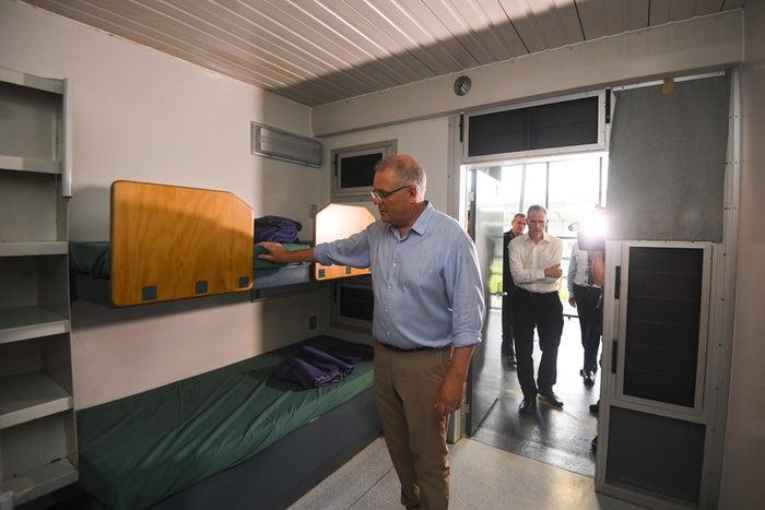 Scott Morrison inspects the Christmas Island detention centre.