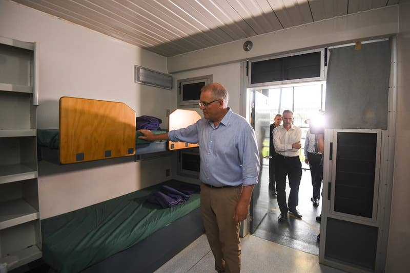 Scott Morrison inspects the Christmas Island detention centre.