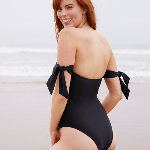 08743e451735 A classy black one-piece with different removable straps for multiple  swimsuits all in one. American Eagle