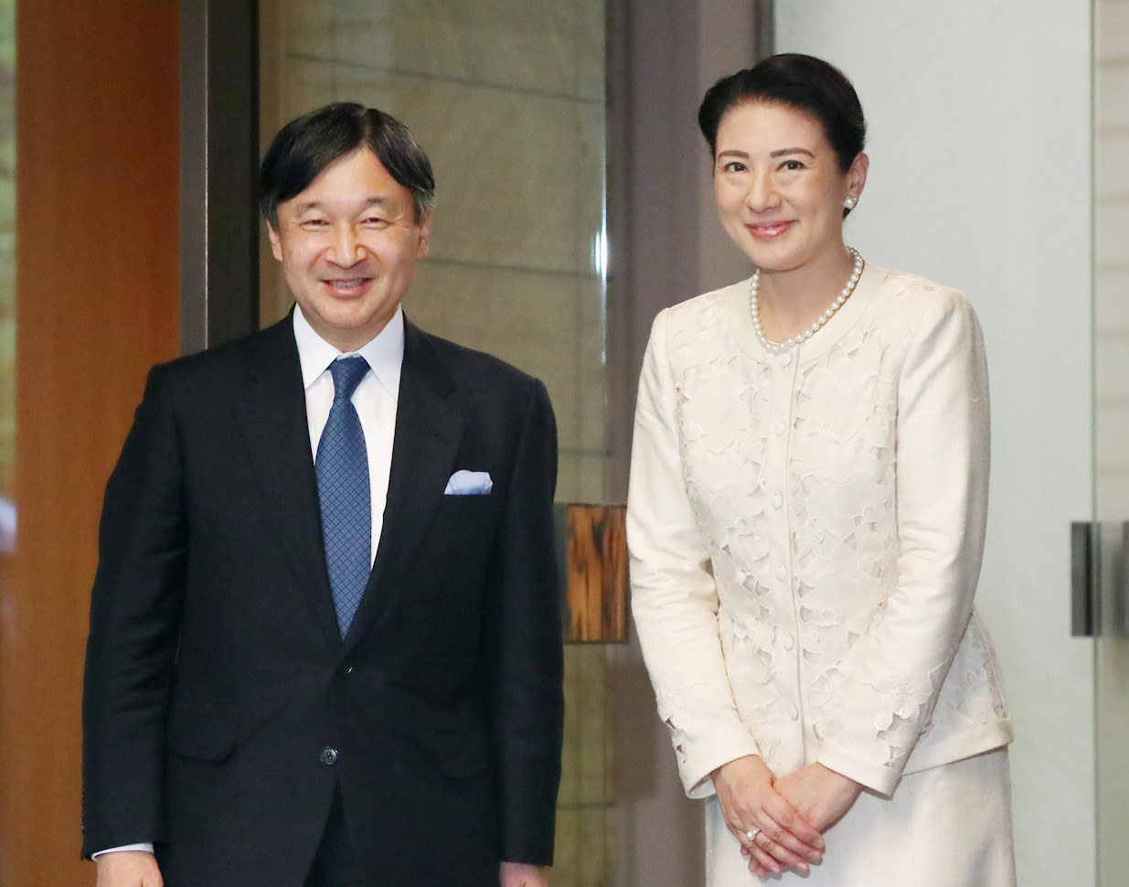 新天皇陛下と新皇后雅子さま=2018年09月15日