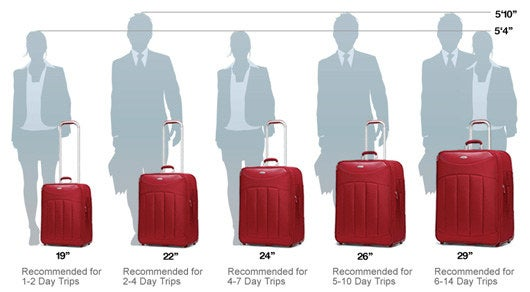 You can also opt for a weekender bag for trips between one and three days.