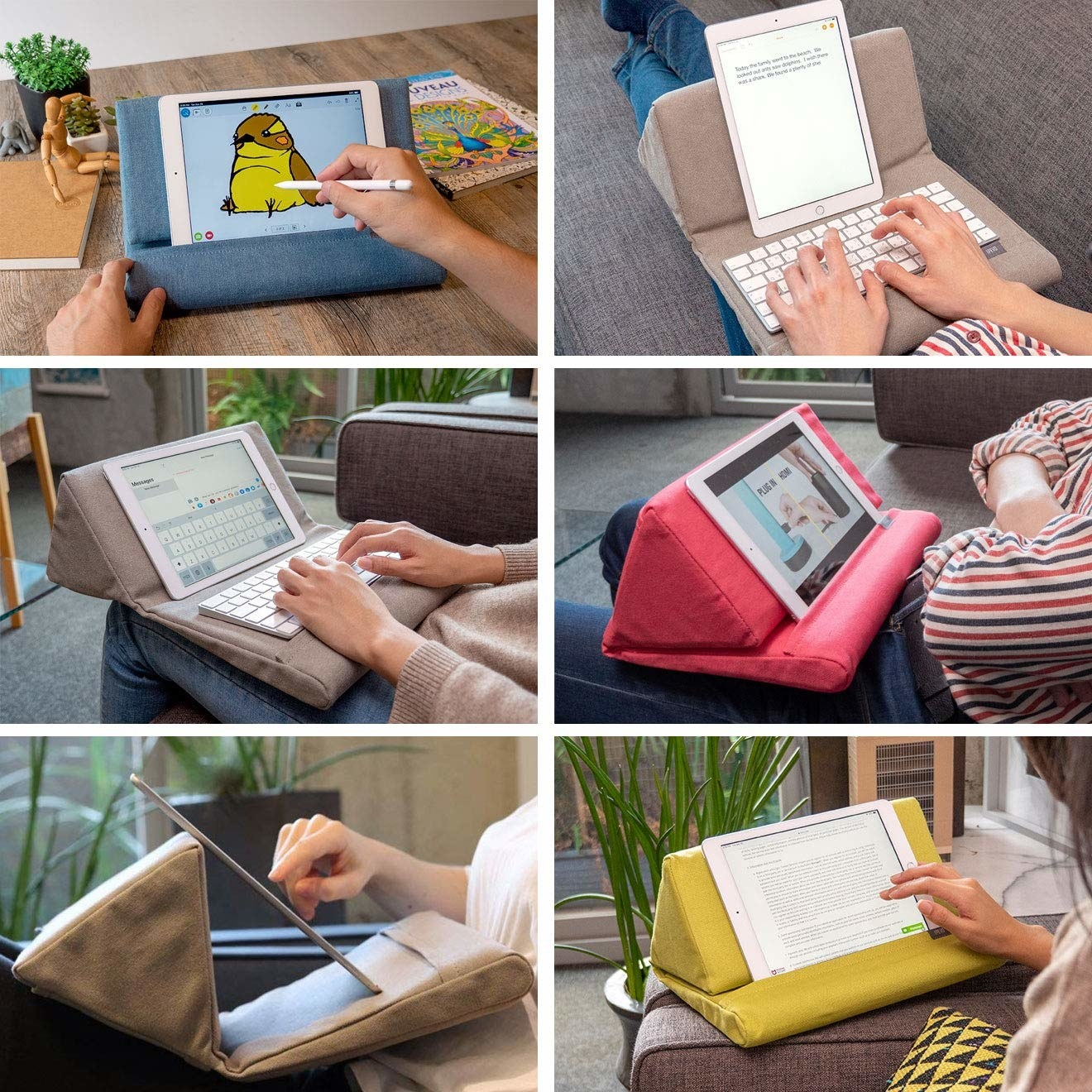 soft pillow stand for tablet