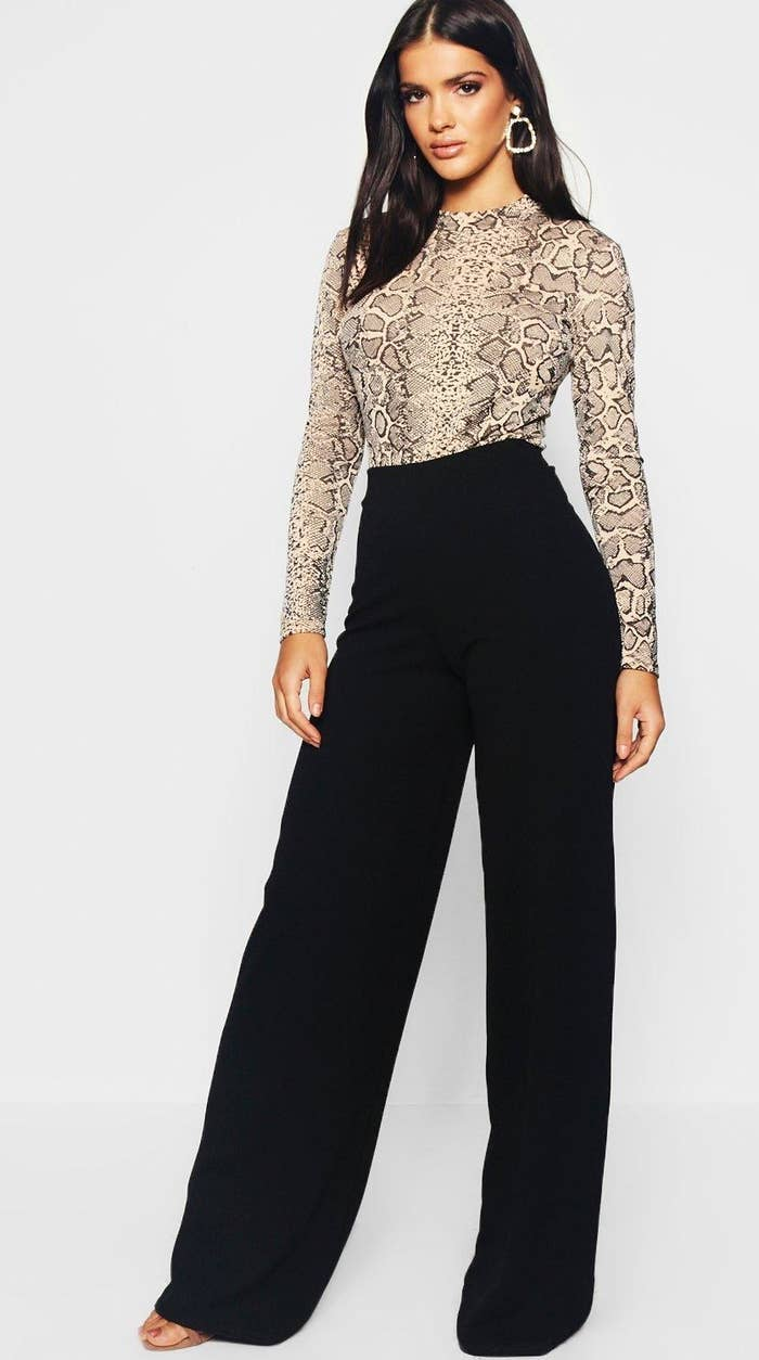 4e1ac3def4e Wear some business pants, you young professional! These wide leg options  are perfect for looking office-appropriate while *still* remaining true to  your ...
