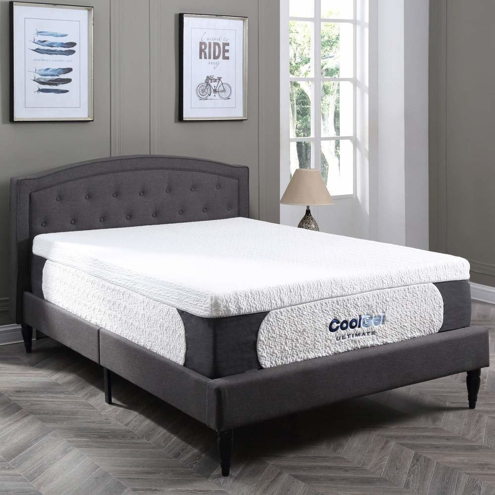"Promising review: ""Wow, I ordered this after looking at the reviews. I'm very impressed with this mattress, exactly 14"", Cali king to a T. Firm enough for me with the back support I've needed, and soft enough for my husband. I opened it up on the bed, opened the packaging, and it flopped right open to the correct size. The pillows were not very firm or fluffy, but I didn't expect much out of those. Our pups love their new pillows. The smell is to be expected for a new memory foam mattress, don't let that deter you. It was gone by 9 p.m., and I opened it up at 3 p.m. I am absolutely thrilled, as is my husband, with this mattress. Great quality, shipping, price, comfort, support, space, and anything else you could hope for. Not too hot for a memory foam mattress. Definitely look into it!"" —Amanda LarsonGet it from Amazon for $493.80 (available in sizes twin–California king and four thickness options)."
