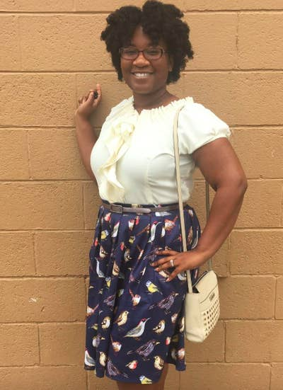 2d4d5466dd0 9. Don your favorite blouse or basic tee and pair it with a patterned midi  skirt (I know I know, you'll miss your usual leggings or denim combo) for  some ...