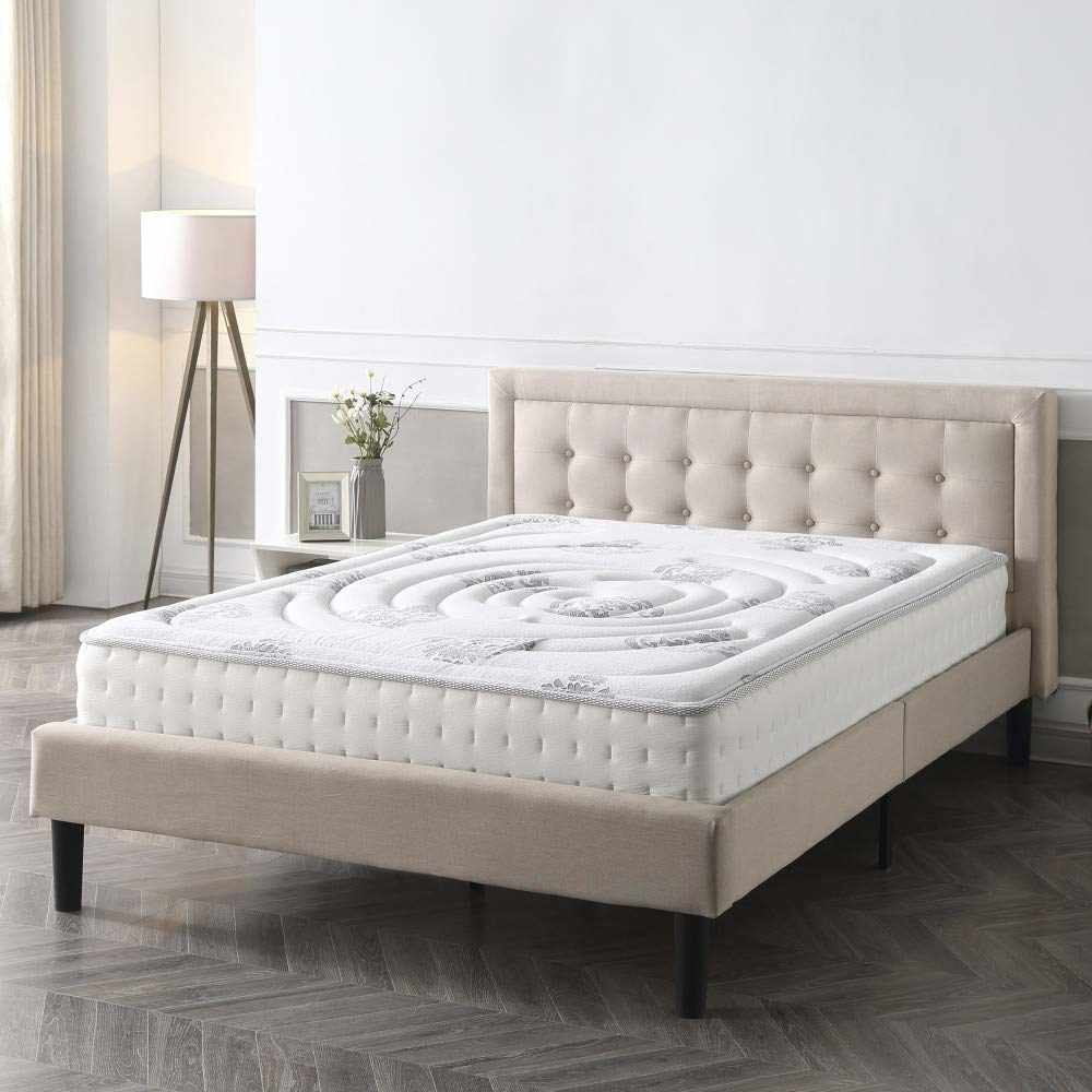 "Promising review: ""It is clearly advertised as a FIRM mattress and it is! I don't understand bad reviews that criticize it for being firm. You got exactly what you ordered. Throw a soft mattress topper on it if you want it softer. I love it! It shipped in a tight roll. Easy to unpack and then just stand back and let it expand. I slept on it the first night. My measuring tape confirmed that it expanded to the complete 10.5"". It has both coil springs and memory foam, what else do you need? I highly recommend this mattress for sleepy heads who want a FIRM mattress!"" —Globe_TrotterGet it from Amazon for $99+ (available in sizes twin–California king and two thickness options)."