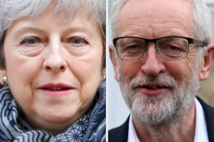 Theresa May and Jeremy Corbyn.