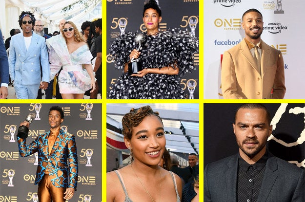 Beyoncé won Entertainer of the Year, Jay-Z won the President's Award, Tracee Ellis Ross won Best Actress in a Comedy Series, Michael B. Jordan won best Supporting Actor in a Motion Picture, Chadwick Boseman won Best Actor in a Motion Picture, Amandla Stenberg won Best Actress in a Motion Picture, and Jesse Williams won Best Supporting Actor in a Drama Series. Kudos to all!
