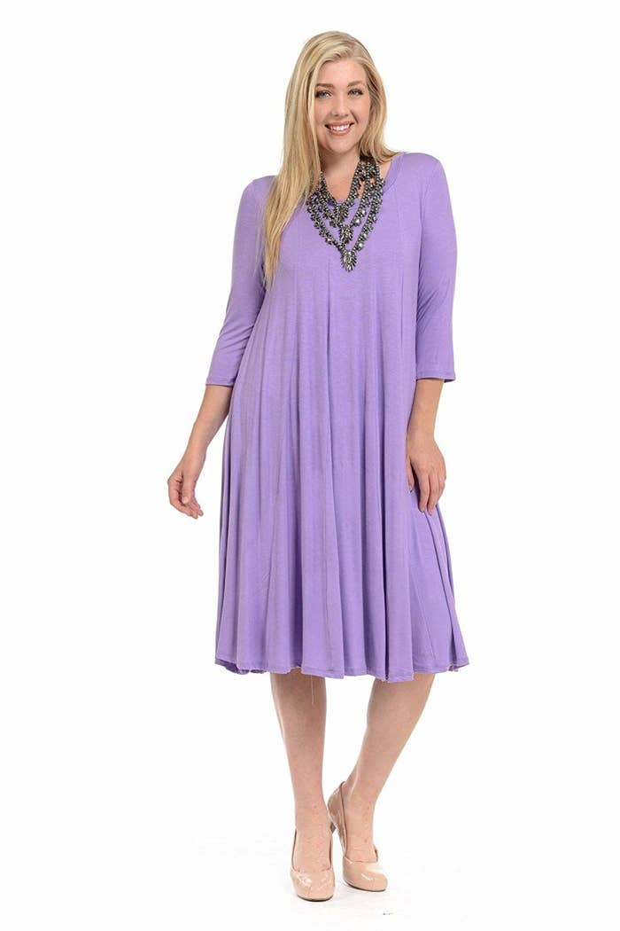 364e5fff193c A flowy dress with sleeves to protect you from those chilly spring breezes.  Amazon