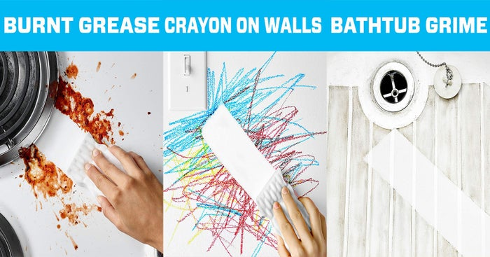"""I bought these to clean up gnarly scratches on my Away carry-on (as a result of checking it in :/ because I wanted my full-sized skincare products ok) and they worked like a charm!Promising review: """"Basically the best cleaning tool ever. Walls, counters, sinks, toys, you name it, I've used a Magic Eraser on it. We have a lightly-colored sink basin in the kitchen and I use these once a week to keep it sparkling white. I used to have to use heavy-duty cleaner, but just a quick wipe down with the Magic Eraser and it's good as new!"""" —seven4elevenGet a box of four from Amazon for $4.92.Be sure to check out our picks for the best sponges on BuzzFeed Reviews!"""