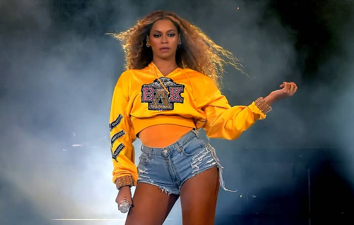 Beyoncé performs at Coachella in 2018.