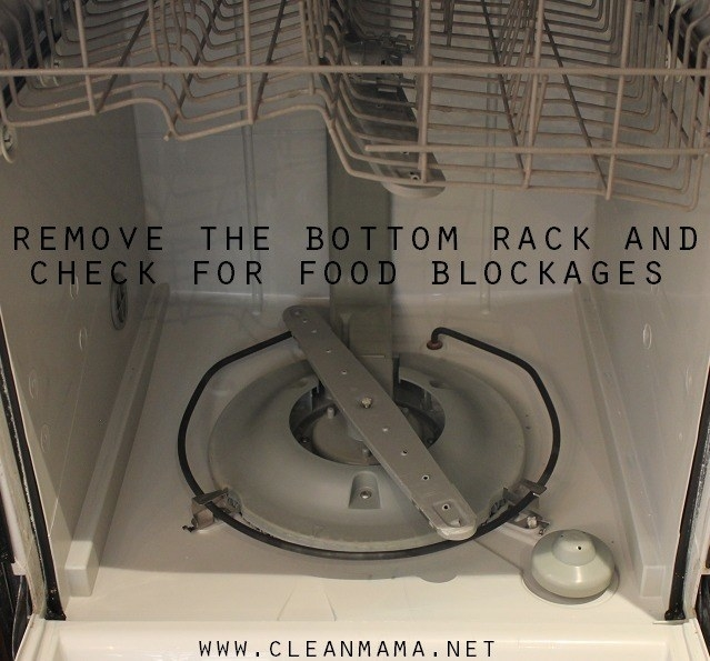 Clean Mama (a blogger)'s dishwasher with bottom rack removed