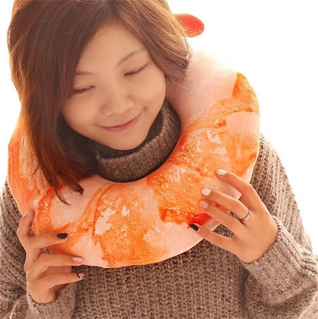 shrimp shaped pillow