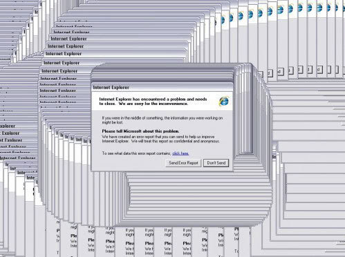 internet explorer not responding message