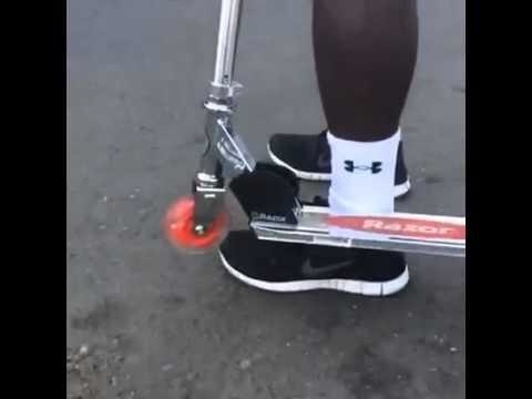 scooter hitting an ankle