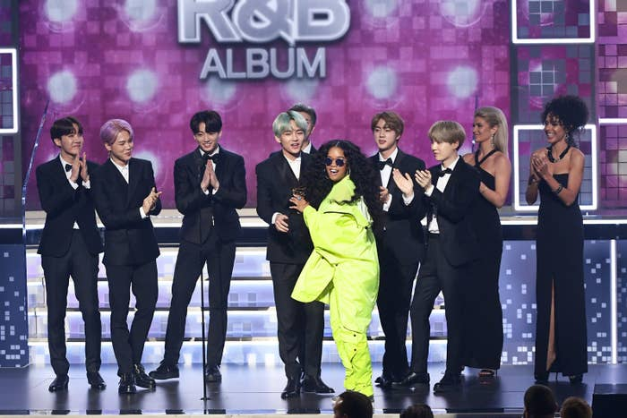Here's Behind-The-Scenes Footage Of BTS At The Grammys Where