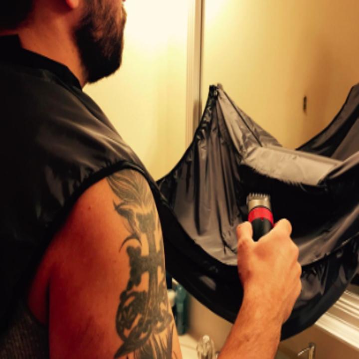 alternate review of the bib catching beard trimmings