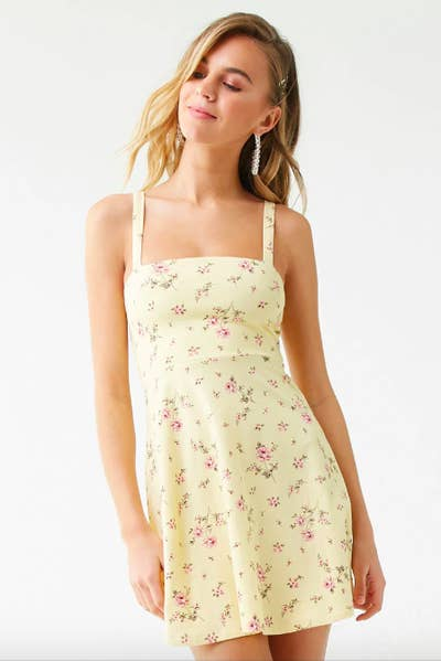 98d179d1a895 A cutout skater dress so adorable, it'll make your spring allergies seem  significantly more bearable. Sure, you're sneezing every five seconds!