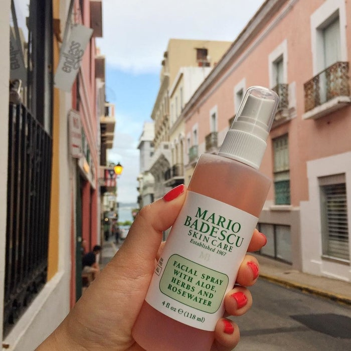 """Promising review: """"I have combination skin. During the summer, it gets oily very fast and during the winter it is extremely dull and dry looking. My skin is sensitive and most of the time has a pinkish red color to it when it is dry and irritated. However, after using this spray, my skin is much healthier looking and has a dewy, fresh look. It even helped calm down the redness. I haven't had this for a full week and I'm head over heels in love and can't wait to order more of this stuff. Holy grail in my skincare routine now!"""" —Halyey O.Get it from Amazon for $7."""