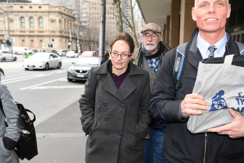 Kathy Clubb leaving Melbourne Magistrates' Court in Aug. 2017.