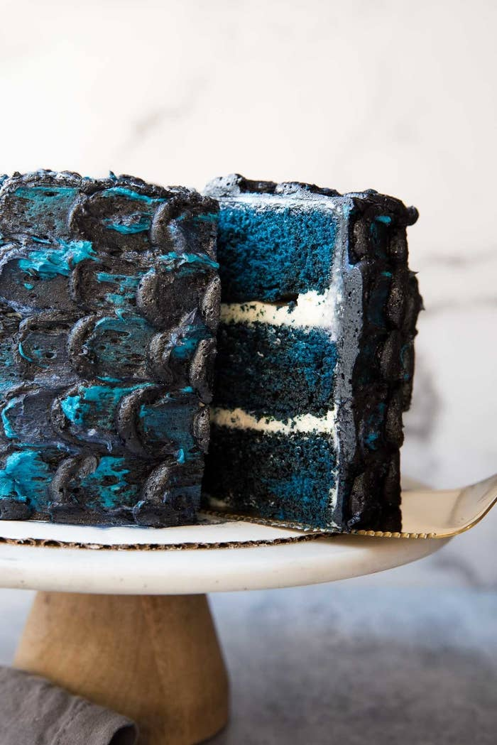 A nod to one of the most notable moments in Season 7, this white walker inspired dragonscale cake is sure to be the centerpiece for your premiere party table.Get the recipe.