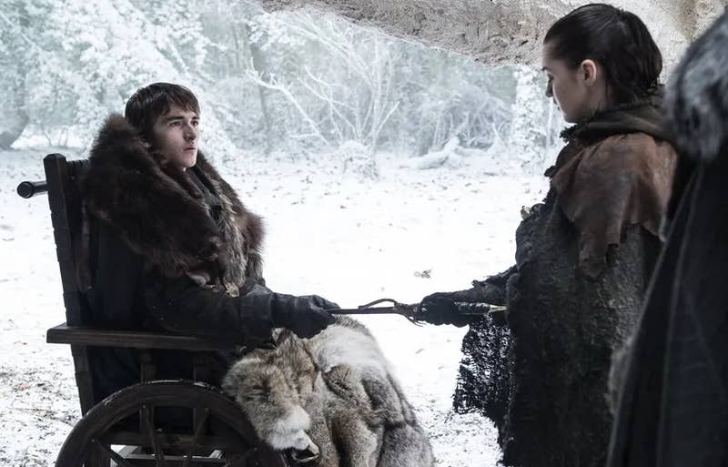 Ever since Hodor held that door and we learned the truth about what happened to him in the past – that it was Bran's interference and warging that broke his brain – people have been theorising that Bran is manipulating much more throughout history. So, of course, some fans think that's exactly what he was doing during the Battle of Winterfell – going back to the past to manipulate events in order to ensure everything happened exactly as it needed to. There's no evidence of this within the episode, though, unlike the other instances of time travel/visions we've seen. It feels like there's a low chance they'll reveal this in future episodes too.