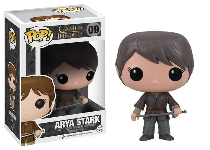 bd1b41fc6 A figure of Arya Stark with her sword Needle that you'll want to display  next to your most prized possessions because she's the fiercest one on the  whole ...