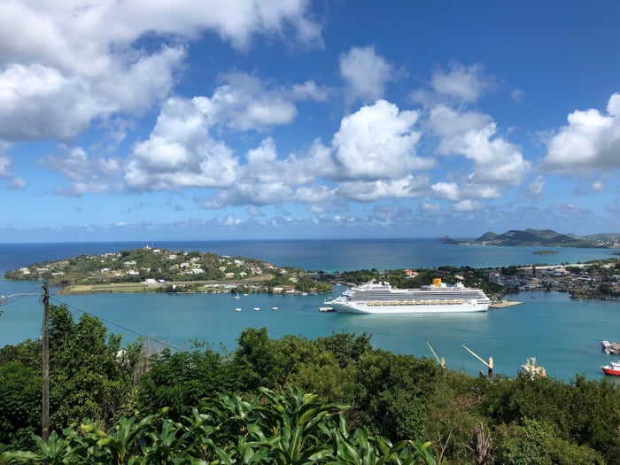 A cruise ship on Castries Port, Saint Lucia, Feb. 6.