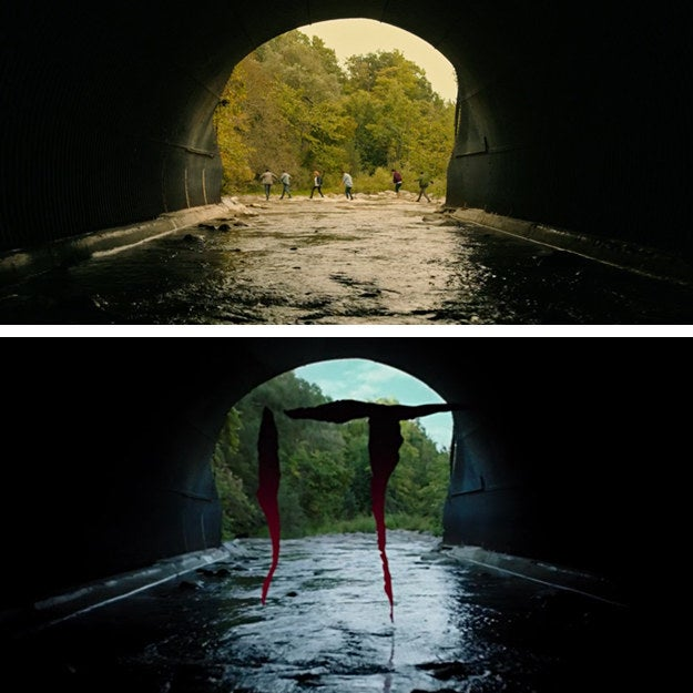 The large tunnel appeared in the first movie right after the prologue with Georgie.
