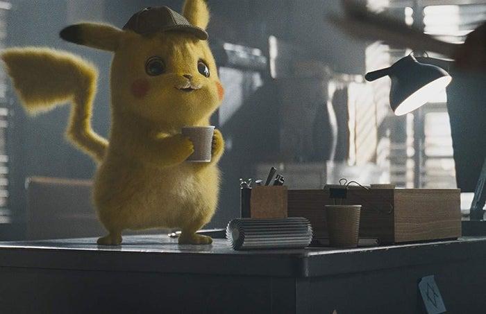 Pikachu, voiced by Ryan Reynolds, in Pokémon Detective Pikachu.