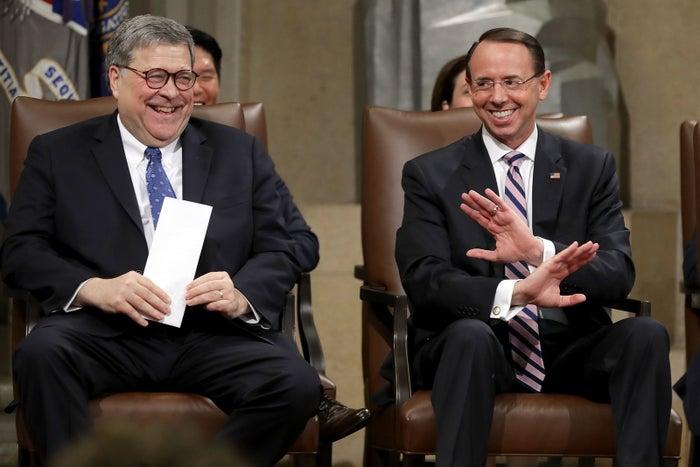 Attorney General William Barr and Rod Rosenstein