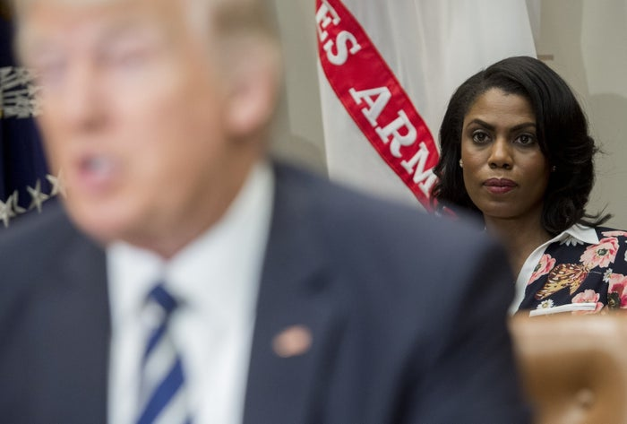 Omarosa Manigault Newman at the White House in February 2017.