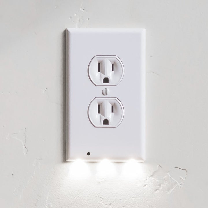 A close up of the outlet cover plate