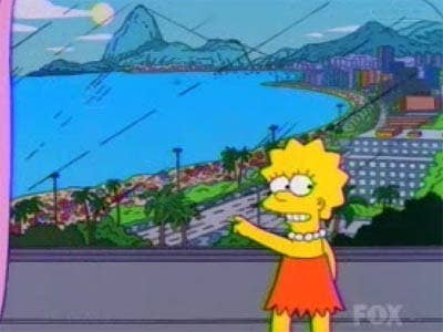 """In 2002's """"Blame It on Lisa,"""" the family went to Rio de Janeiro. While the episode featured a lot things that weren't flattering to the city — like muggings and kidnappings happening in the city — according to Yeardley the tourism board seemed to be especially upset about the Simpsons being attacked by monkeys (because it's a city and monkeys don't live in Rio)."""