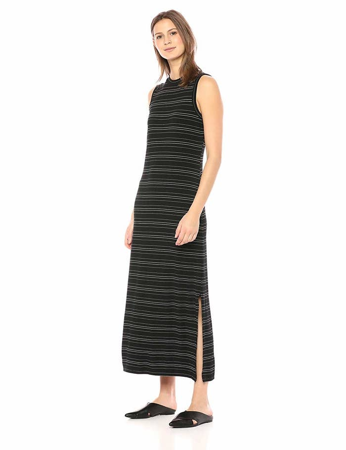 e7320227a A tea-length sheath dress you can pair with heeled sandals for a sleek  evening look or white sneaks for a dose of sporty-chic.