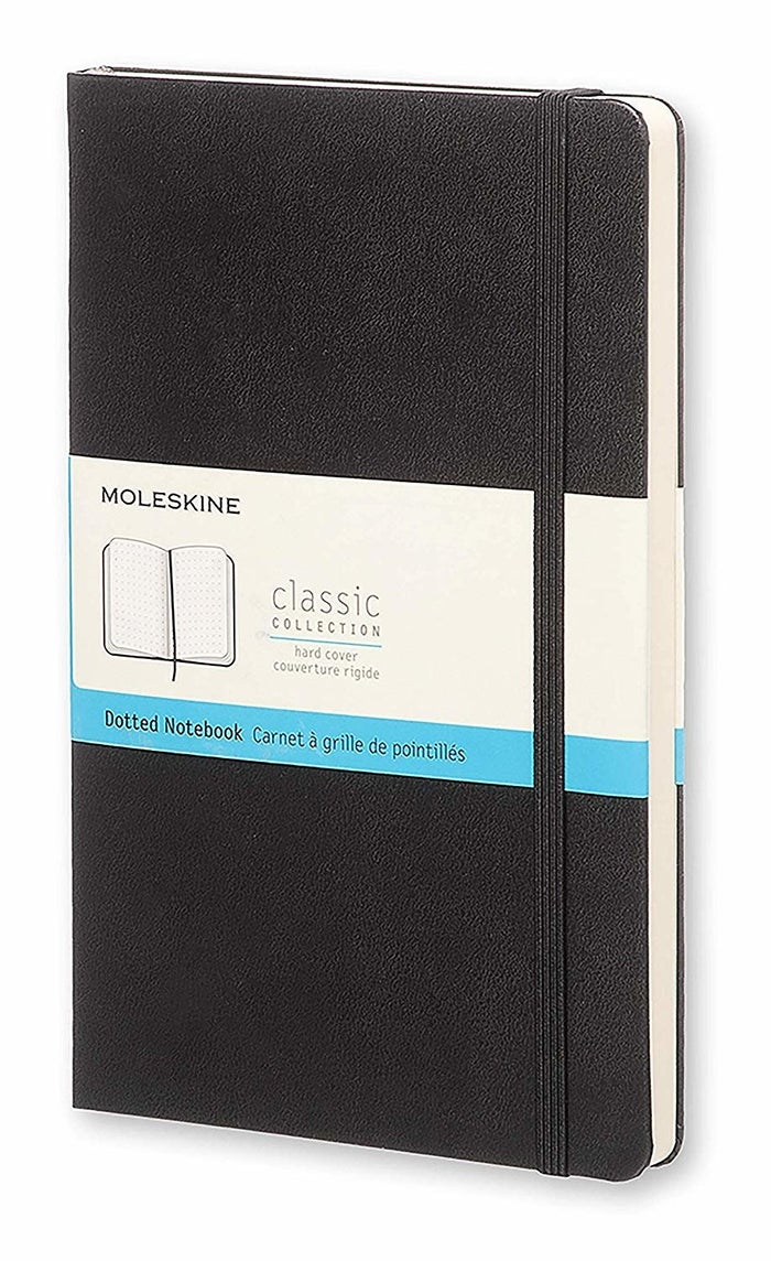 """This well-rated Moleskine journal has dots instead of straight lines, so it really opens up what you can do. Promising review: """"I bought this to try out the bullet journal system, and I am very happy with it. The pocket is useful, hardcover means I can toss it in my purse or backpack without worrying about it, and the dotted grid is very useful for planning."""" —MinaPrice: $17.96"""