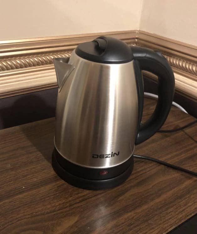 """Promising review: """"After seeing one at my friend's house. I bought the same one. It's perfect, especially in those harsh winter months. It came in a nice package with instructions. It's very easy to use. Water boils very quickly. No more boiling water on the stove anymore. I like how it's stainless steel and easy to clean. I would definitely recommend this to all tea lovers!"""" —Emily YGet it from Amazon for $18.99."""