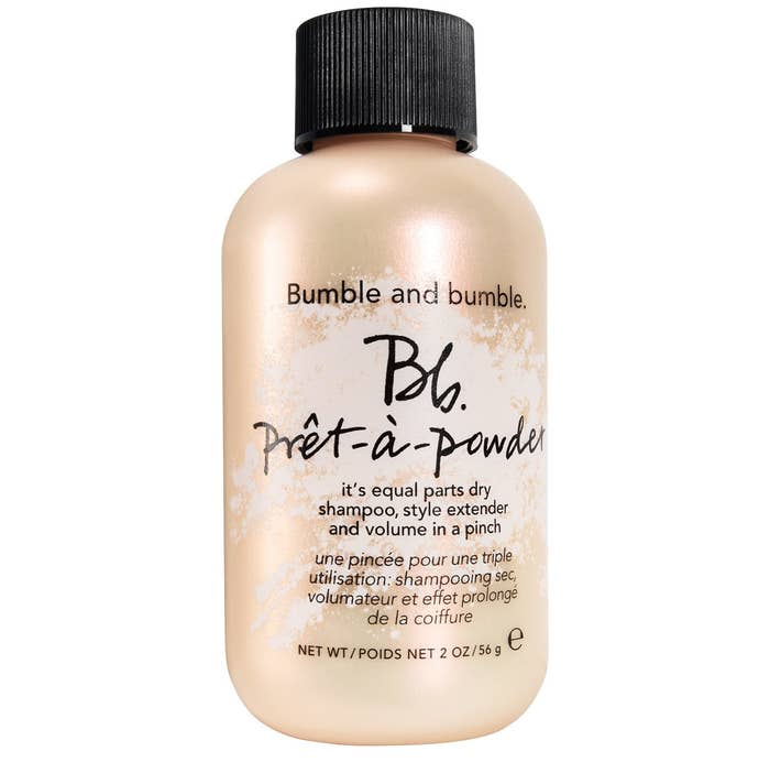 """Bumble and Bumble products are formulated without parabens, sulfates, phthalates, or formaldehyde, and they're also cruelty-free!Promising review: """"I have long, fine, dark hair, and an oily scalp. As I've gotten older, I've needed to wash my hair pretty much every day. Otherwise, it looks greasy. I've tried several dry shampoos and colored hair powders and this is the first one that has actually worked. It is white in color, but with a vigorous massage into my scalp, it blends in well without making my hair look gray. I love how it makes a blowout last longer and adds volume at the roots. Overall, a very good product and one I will never be without."""" —sacbeezGet it from Sephora for $28."""