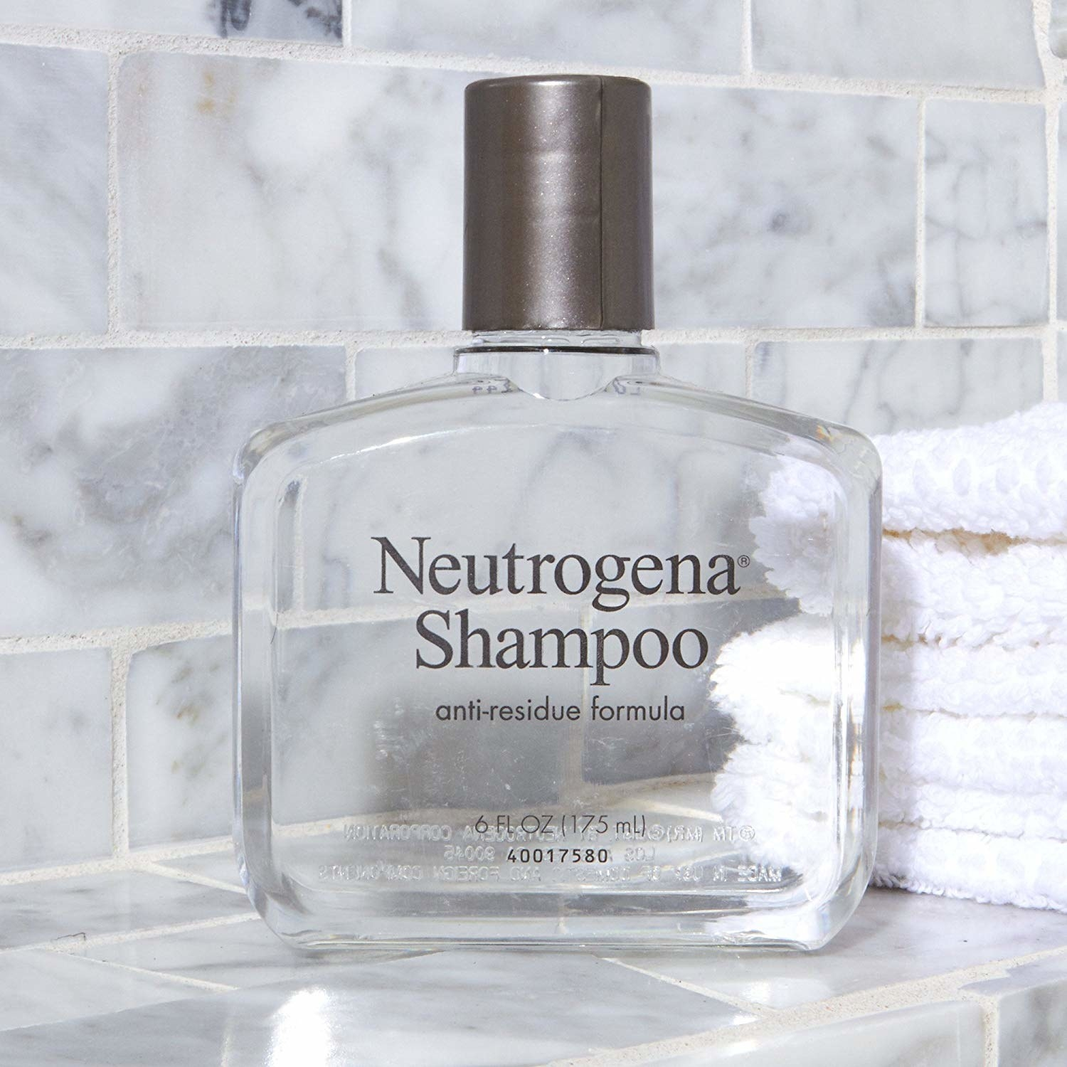 The bottle of anti-residue shampoo