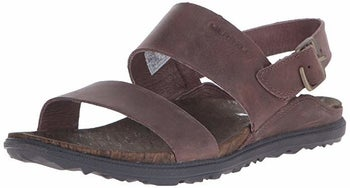 the sandals in brown