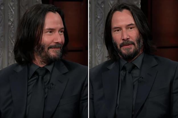 Keanu Reeves Left Stephen Colbert Speechless With The Perfect Answer To An