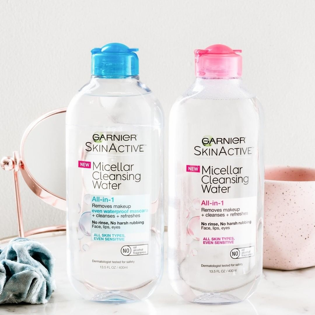 two bottles of the micellar water