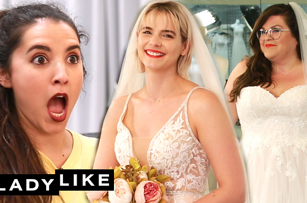 We Tried On Wedding Dresses And The Tears Were FLOWING