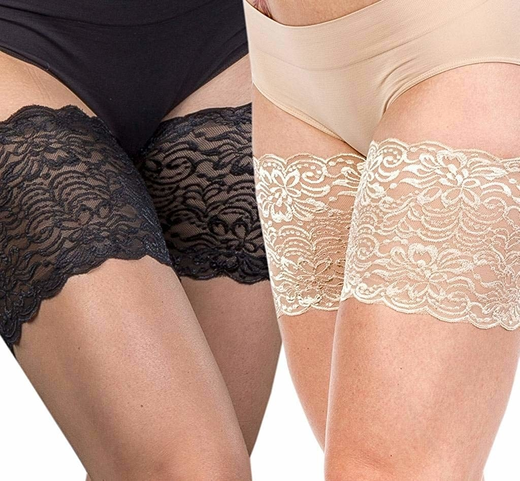 lacy bands on thighs